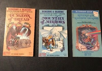 Dungeons & Dragons Endless Quest Paperback Books 1982-83.