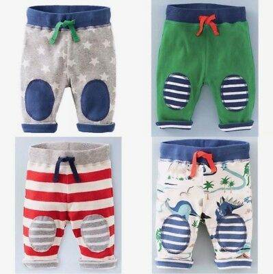 NEW IN Baby Boden Boys Reversible Knee Patch Jersey Trousers 0-4Yrs