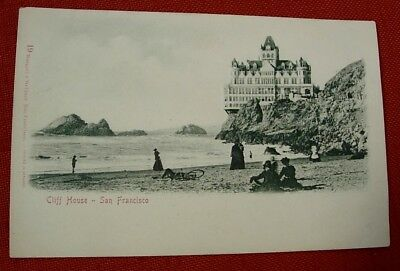 EMBOSSED GERMAN postcard VICTORIAN CLIFF HOUSE SF CA Undivided