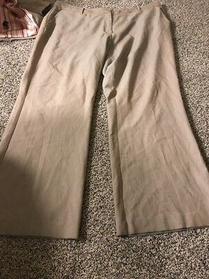 Womens Light Brown Wool Blend Long Sleeve Blazer Size 22 and Suit Pants Size 20