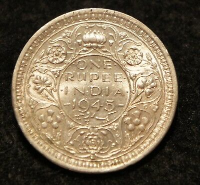 1945L India Rupee in AU Condition 50% SILVER  Very NICE Collectible!