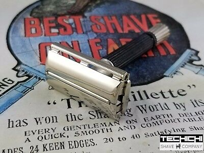 1967 M3 Gillette Black Handle Super Speed Vintage Double Edge Safety Razor
