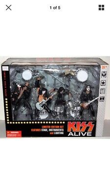 KISS ALIVE! Deluxe Box Set Action Figures Stage Ltd Ed McFarlane 2001 New In Box