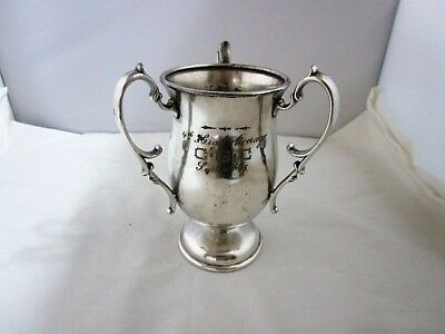 Dated 1905 Silverplated Loving Cup Trophy