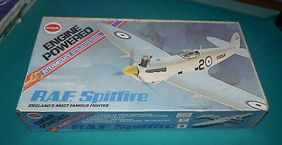 Cox Engine Powered R.A.F. Spitfire From 1977 All complete and Mint!