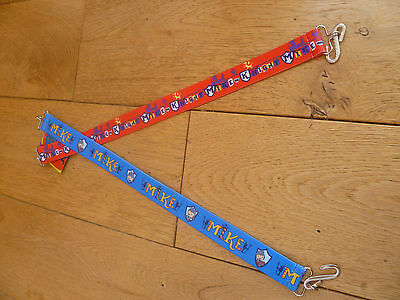 Marks And Spencer 2 Pack Red Blue Mike The Knight Belts 2 4 6 8 Years Bnwt