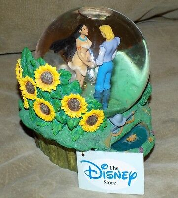 Disney Pocahontas Musical Colors of the Wind Snow/Water Globe