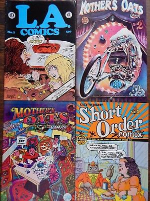 Lot of 4 underground comics: Short Order Comix, Mother's Oats, L.A. Comics