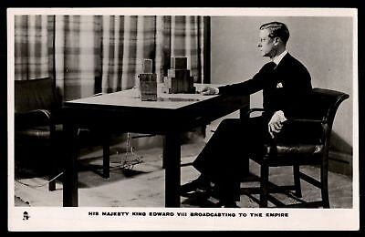 Mayfairstamps ROYALTY  KING EDWARD VIII BROADCASTING TO THE EMPIRE RPPC POSTCARD