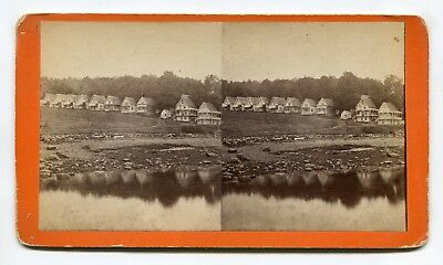 Northport, Maine Wesleyan Grove Religious Camp Meeting Grounds Stereoview Tuttle