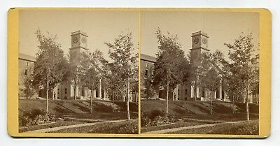Amherst, Massachusetts Chapel, North & South College Bldgs Stereoview by Lovell