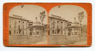 Saratoga Springs, New York High Rock Spring & Bottling House Stereoview  Anthony