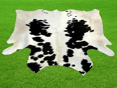 "New Cowhide Rugs Area Cow Skin Leather 15.65 sq.feet (49""x46"") Cow hide MB-9156"