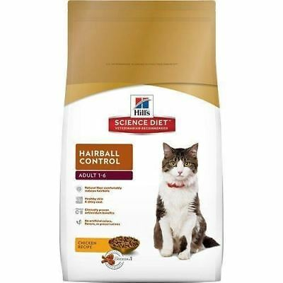 Hill's Science Diet Adult Cat Hairball Control Formula Dry Food...