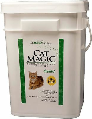 Cat Magic Scented Clumping Clay Cat Litter, 35-Pound