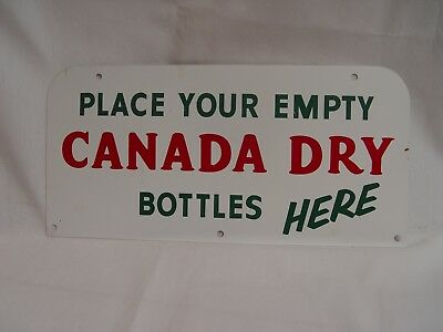 Double Sided Canada Dry Place Empties Here Metal Advertising Rack Soda Sign