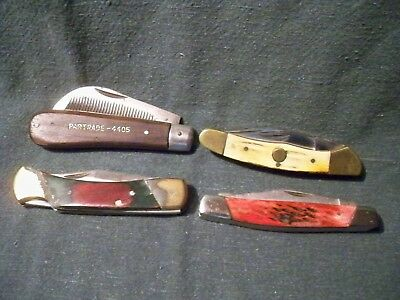 Lot of 4 Pocket knifes 2-Pakistan 1-Frost Cutlery 1-China