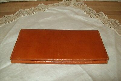 Vintage Mexico ARVE Leather Wallet 1940s Carmel Brown Mexican