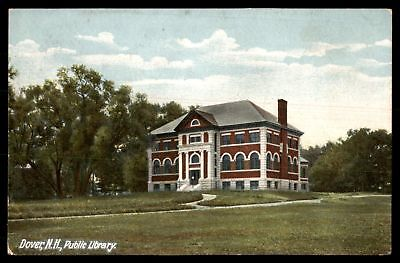 Mayfairstamps NEW HAMPSHIRE  PUBLIC LIBRARY DOVER NH CORNER SIDE FAR VIEW BY HC