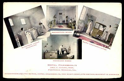 Mayfairstamps VIRGINIA  HOTEL CHAMBERLIN FORTRESS MONROE VA WITH HYDROTHERAPEUTI