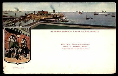 Mayfairstamps VIRGINIA  HOTEL CHAMBERLIN FORTRESS MONROE VA HAMPTON ROADS & ENTR