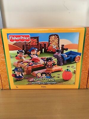 Fisher-Price Little People Thanksgiving Celebration Pilgrims & Indians Play Set