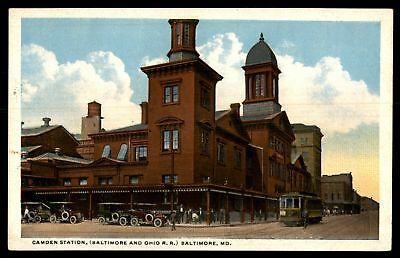 Mayfairstamps MARYLAND  CAMDEN STATION BALTIMORE AND OHIO RR BALTIMORE MD CORNER