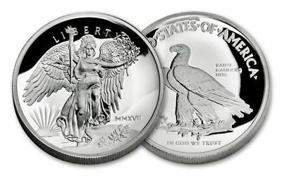 2017 Saint Gaudens Winged Liberty 1 oz .999 Silver Proof Round UHR USA Made Coin