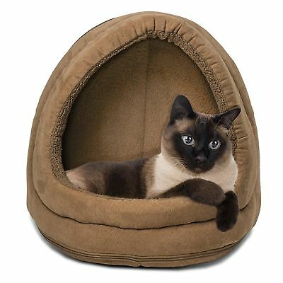 Furhaven Pet Products PawMate Terry and Suede Hood, Camel, 14-Inch Base