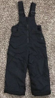 Columbia Boys Girls Toddler Kids Snow Bib Overall Black Size 4T