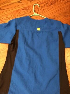 WonderWink Four Stretch Royal Blue Scrub Top, Size Medium Women