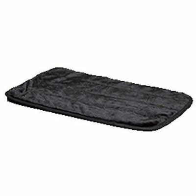 Midwest Quiet Time Deluxe Fur Pet Mat 43-Inch by 28-Inch (Black)