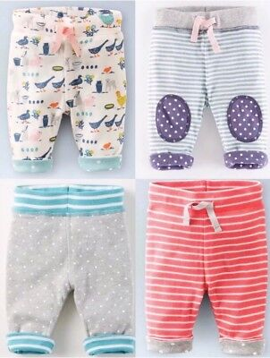 NEW IN LIMITED STOCK Baby Girls Pretty Reversible Trousers 0-3 Months- 4Yrs