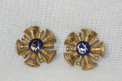 Vintage any where USA Fire department EX Fire Chief's uniform collar devices