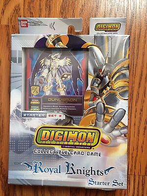 Digimon Royal Knights Starter Set Sealed. Digimon Cards/ Deck