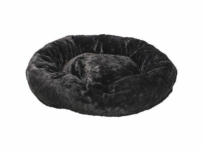 Ethical Pets Sleep Zone All-Around Fur Pet Bed, 27-Inch, Black