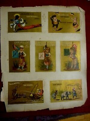 Victorian Scrapbook Trade Cards Kirk Soap Series Chicago Black  Americana + More