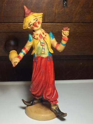 Vintage plastic clown figurine made in Italy