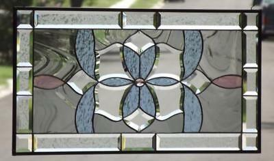 "••Royal Court •• Beveled Stained Glass Window Panel   28 1/2""x15 1/2"" (72x39cm)"