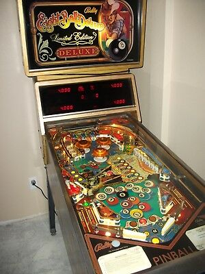 Bally EIGHT BALL DELUXE Limited Edition Pinball Machine Professionally Restored.