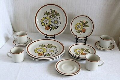 Imperial Stoneware SUMMERTIME H-1001 COUNTRYSIDE H-1000 16 Pc Set Service for 4