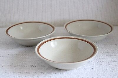 "Imperial Stoneware SUMMERTIME H-1001 COUNTRYSIDE H-1000 6 1/2"" Cereal Bowls (3)"