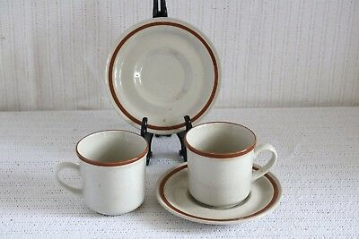 Imperial Stoneware SUMMERTIME H-1001 COUNTRYSIDE H-1000 Cups & Saucers (2ea)