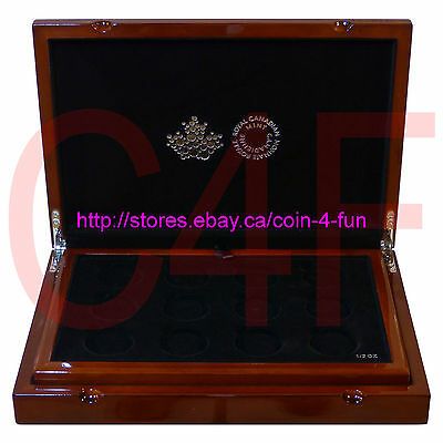 2016 Canada RCM - Royal Canadian Mint - Coin Collection Solid Wood Display Case