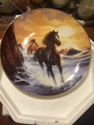 Horse Collector Plate Sunrise Freedom