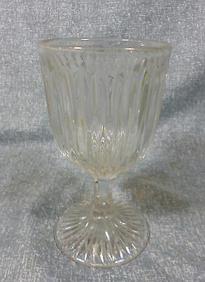 Antique Prism Flint Glass Goblet with Rayed Base
