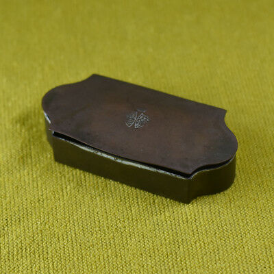An early English Military Box in SOLID BRASS, probably for Snuff or Tobacco
