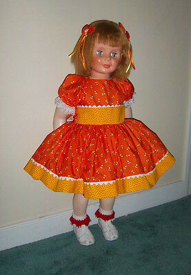 "Pretty Fall Cornseed Dress Set Ideal For Patti PlayPal Doll ""By Berta"""