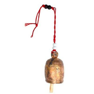 Handmade Copper Holiday Christmas Tree Bell Ornament - 5.5 inch - Matr Boomie