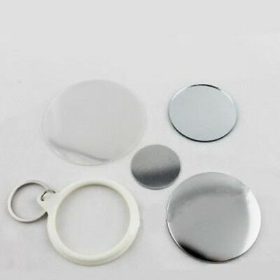 100 of 58mm KEYCHAIN Mirror Badge Button Supplies for Button Maker Badge Maker